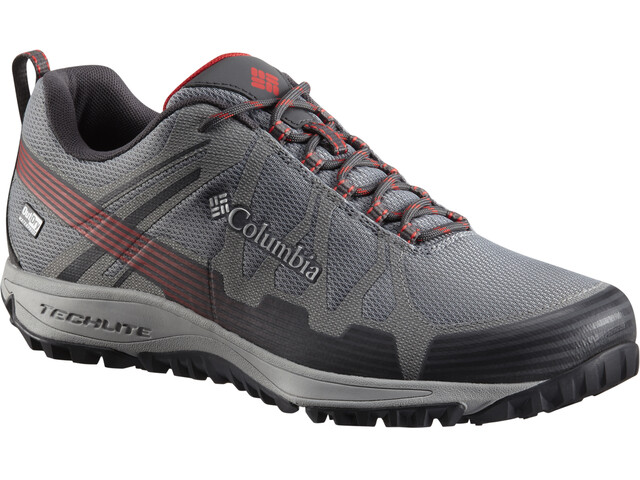 Columbia Conspiracy V Outdry Shoes Men Ti Grey Steel/Bright Red